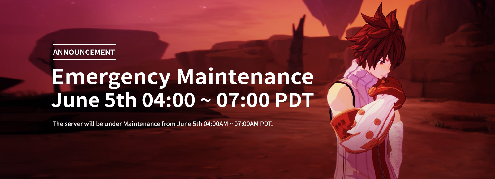 June 5th Emergency Maintenance Announcement