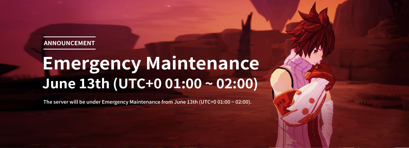 June 13th Emergency Maintenance Announcement