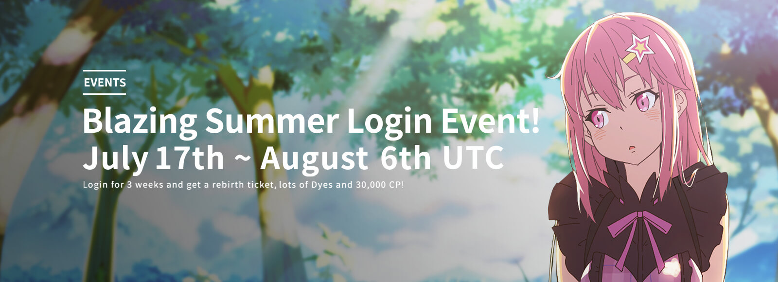 Blazing Summer Login Event!