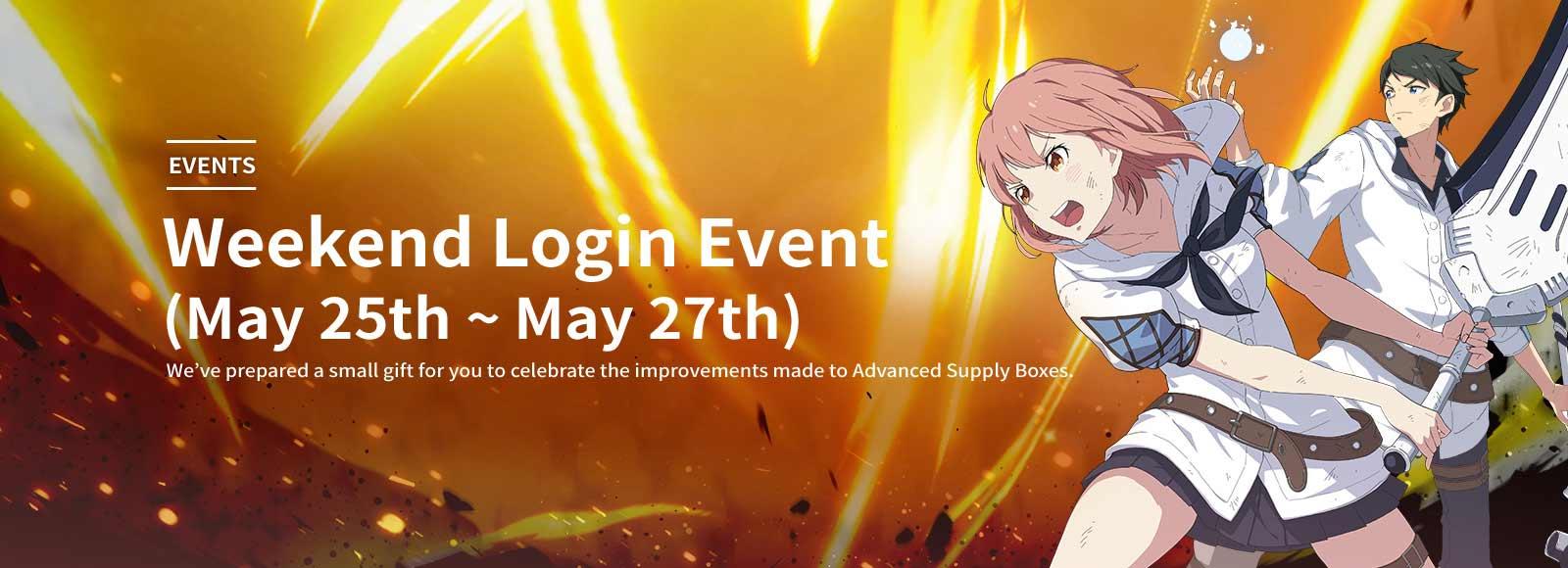 Weekend Login Event