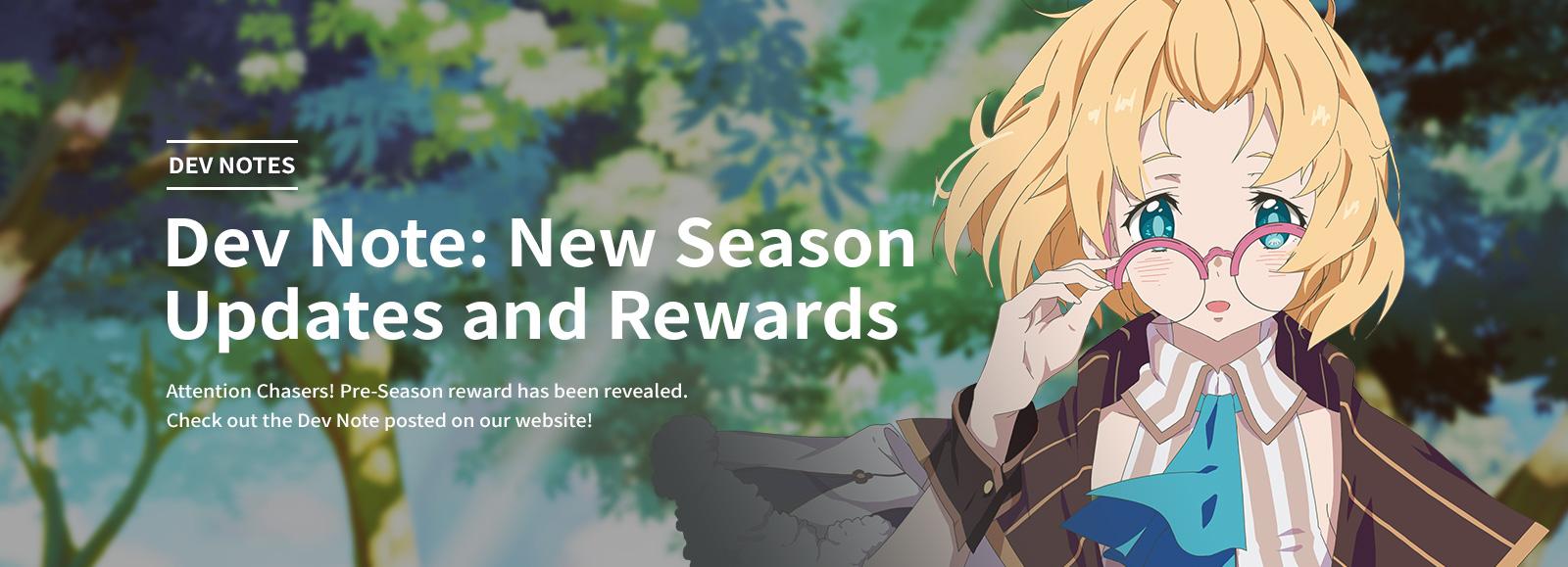 Dev Note: New Season Updates and Rewards