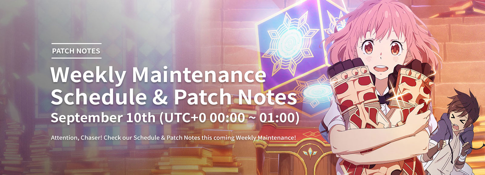 September 10th Weekly Maintenance Schedule & Patch Notes
