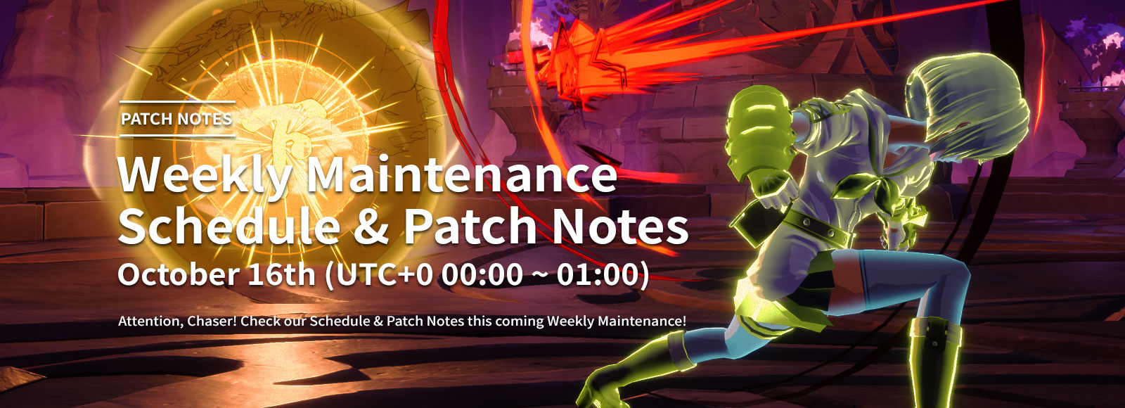 October 16th Weekly Maintenance Schedule & Patch Notes