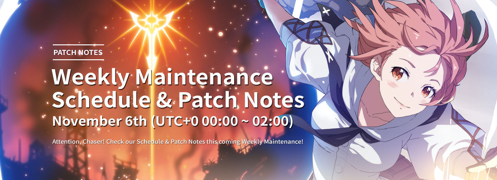 November 6th Weekly Maintenance Schedule & Patch Notes