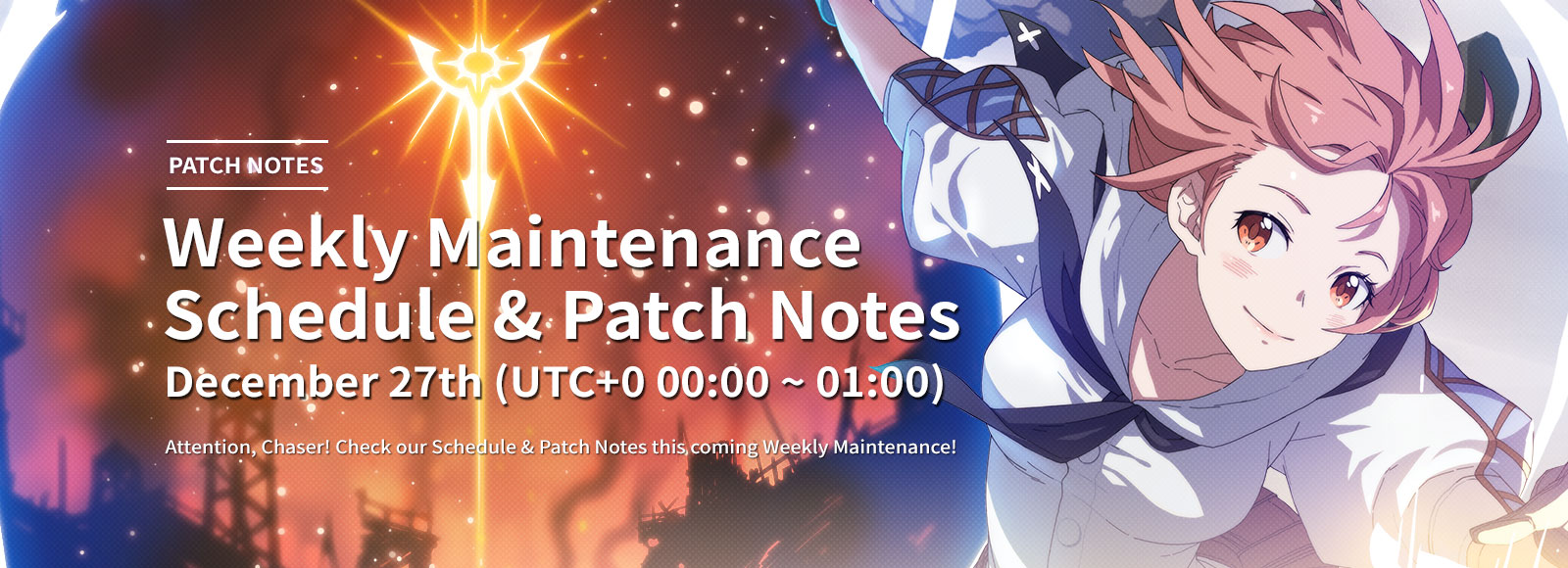 December 27th Weekly Maintenance Schedule & Patch Notes
