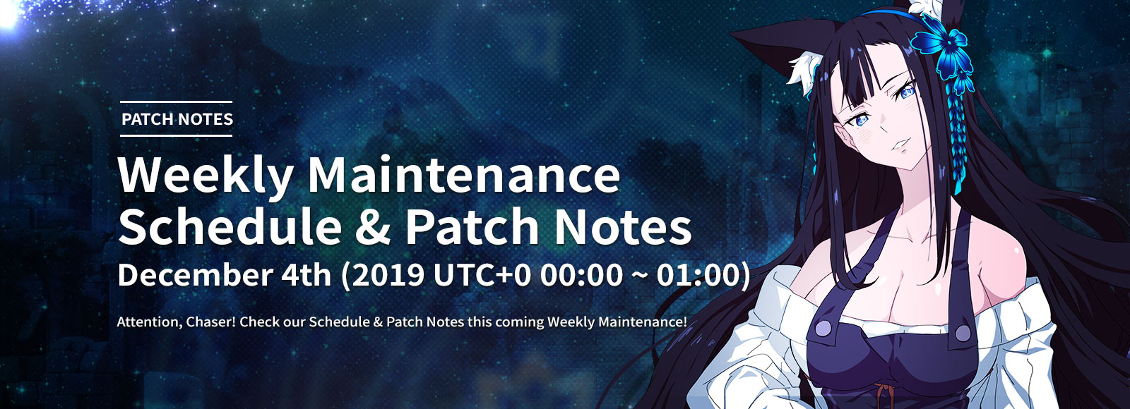 December 4th Weekly Maintenance Schedule & Patch Notes