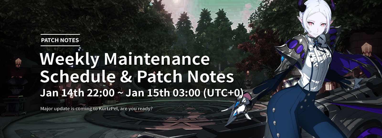 January 15th 2020 Weekly Maintenance Schedule & Patch Notes
