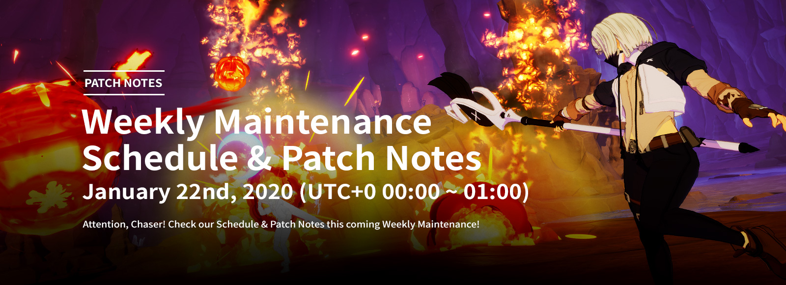 January 22nd 2020 Weekly Maintenance Schedule & Patch Notes